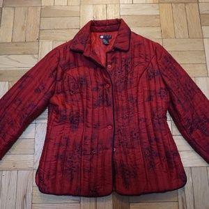 Vintage style Red & Black puff jacket